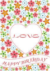 happy brithday love card