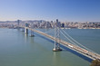San Francisco Bay bridge aerial view
