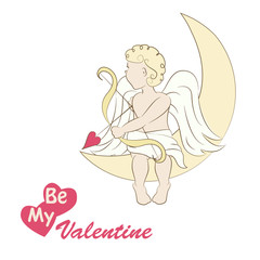 Little cupid , illustration of a Valentine s Day