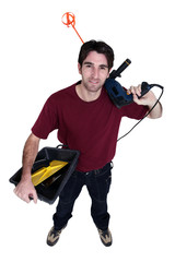 Decorator with a drill and mixing paddle
