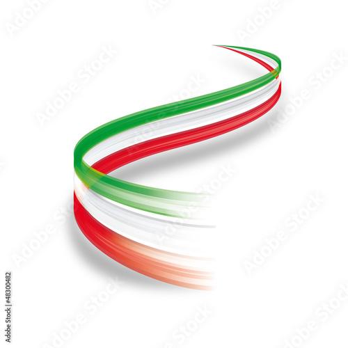 Onda astratta tricolore italiano