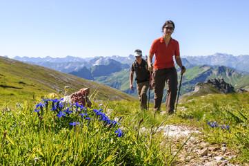 Wanderung in den Bergen