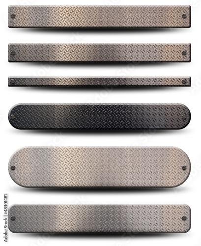 6 plaques métalliques