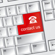 Contact us ,online service keyboard button