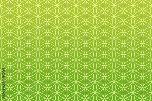 Endlos Textur Grün - Blume des Lebens