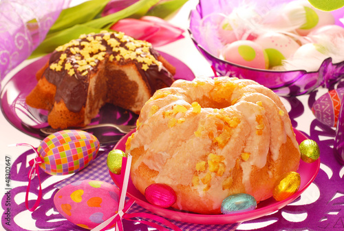 two ring cakes for easter