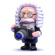 Judge takes photograph with his camera