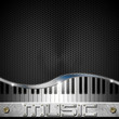 Hexagons Music Piano Background