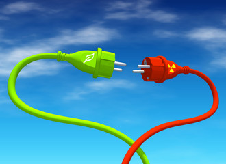 Ökostrom vs. Atomstrom