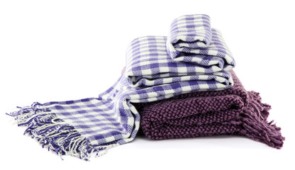 Warm plaids isolated on white