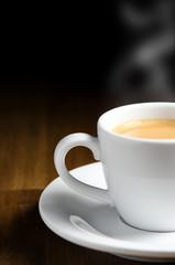 Espresso mit Textfreiraum