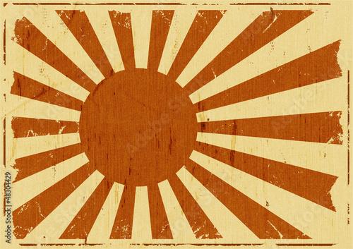 Vintage Japan Flag Landscape Background