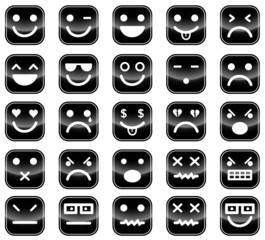 Black smiley icons
