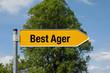 Pfeil mit Baum BEST AGER