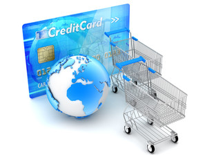 Online shopping and payments - concept illustration