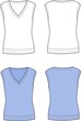 Vector illustration of women's waistcoat