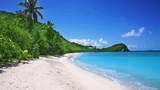 Tropical beach in Saint Martin, Caribbean Islands