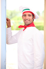 Cook knocking at the door