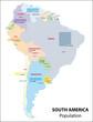 Südamerika Population