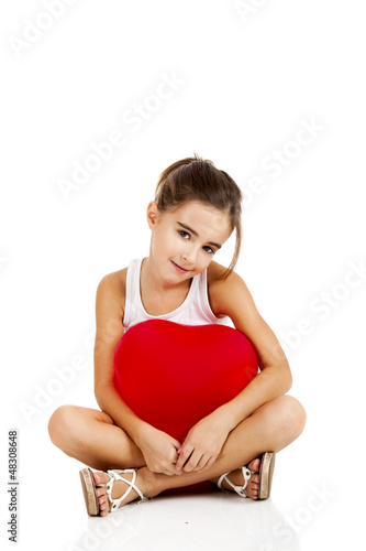 Girl with a red balloon