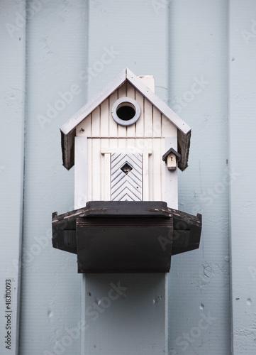 Lustiges Vogelhaus aus Holz