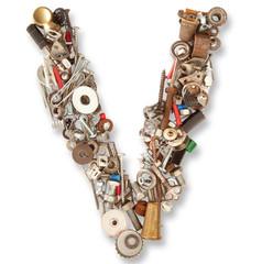 lettera V meccanica