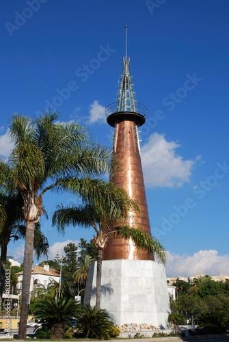 Copper obelisk, Marbella, Spain © Arena Photo UK