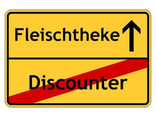 Discounter - Fleischtheke