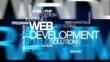 Web development online solutions word tag cloud animation
