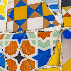 Background of broken tiles, Barcelona