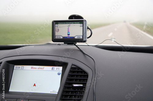 External and build-in car GPS
