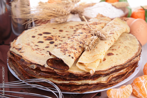 crepes and ingredient