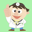 cartoon  doctor thumbs up