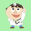 Doctor ,Cartoon Character, refers to the top