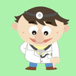 Doctor ,Cartoon Character, refers to the bottom