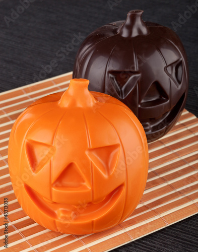 Two Pumpkin chocolate halloween