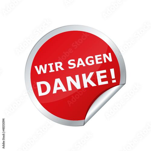 Button Sticker WIR SAGEN DANKE
