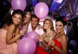 Young people having party in limo