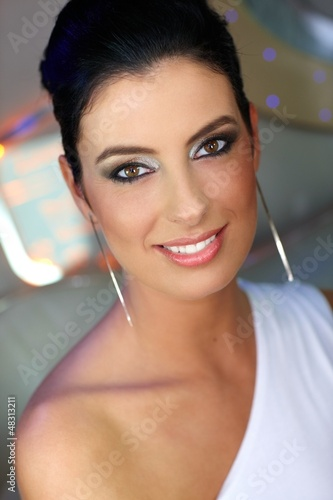 Portrait of smiling elegant woman