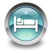 "Light Blue Glossy Pictogram ""Hotel / Lodging"""