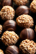 chocolate pralines background