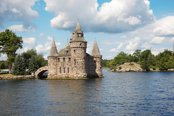 The ancient castle on an island