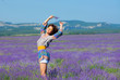 Girl on lavender field