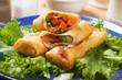 Egg rolls filled with vegetables