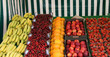 A Display of Fresh Fruit on a Market Stall.