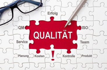 Qualität - Puzzle Konzept