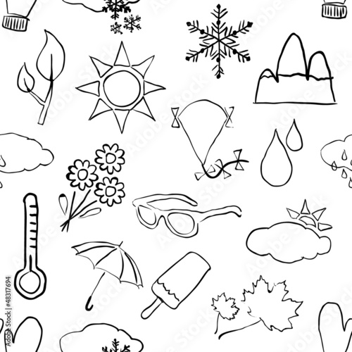 seamless sketch weather pattern
