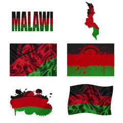 Malawi flag collage