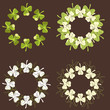 A set of circular Shamrock design patterns