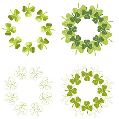 A set of lucky clover sdesign elements